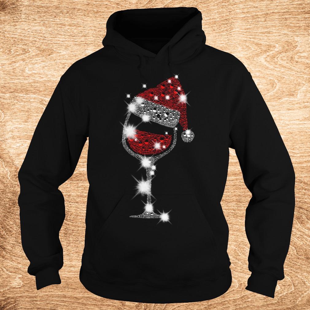 Best price Christmas Rhinestone Wine Glasses with Santa Hat shirt Hoodie - Best price Christmas Rhinestone Wine Glasses with Santa Hat shirt