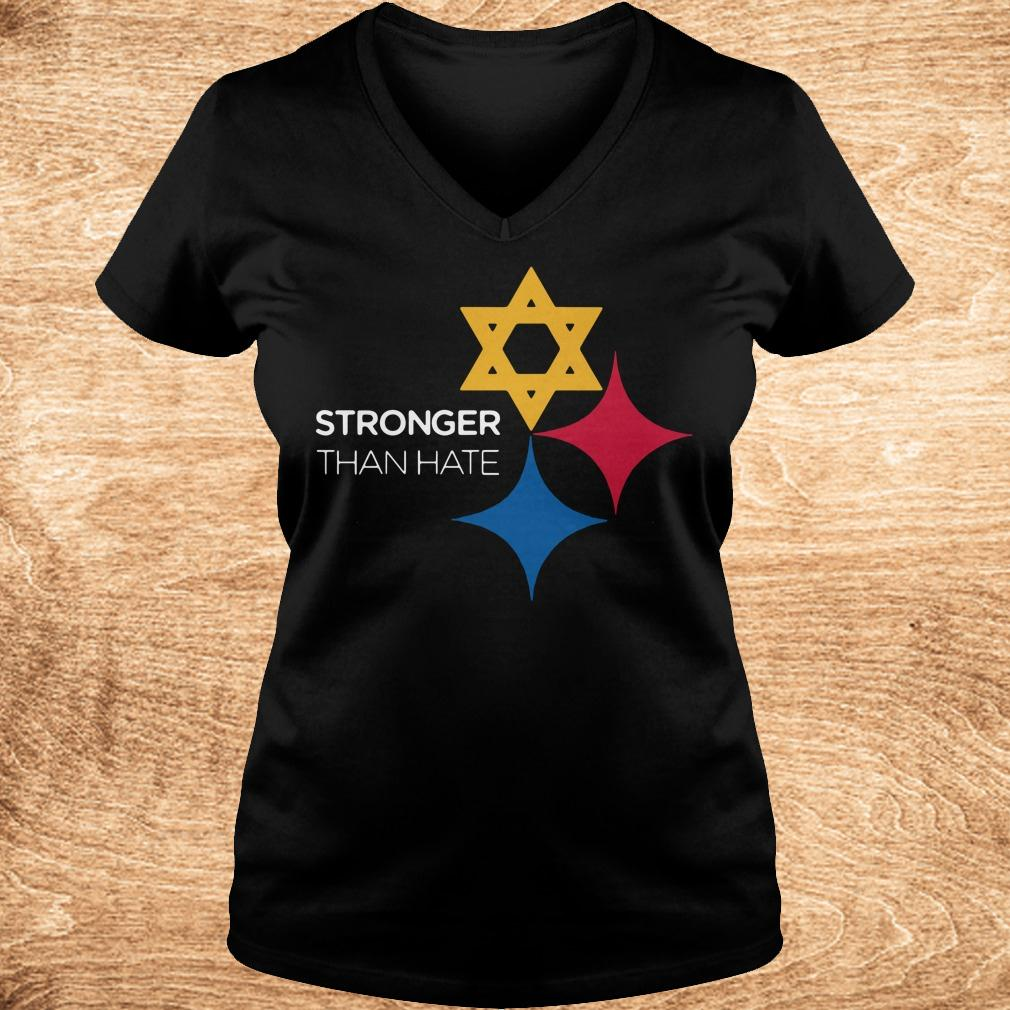Best price Pittsburgh Stronger Than Hate shirt Ladies V Neck - Best price Pittsburgh Stronger Than Hate shirt