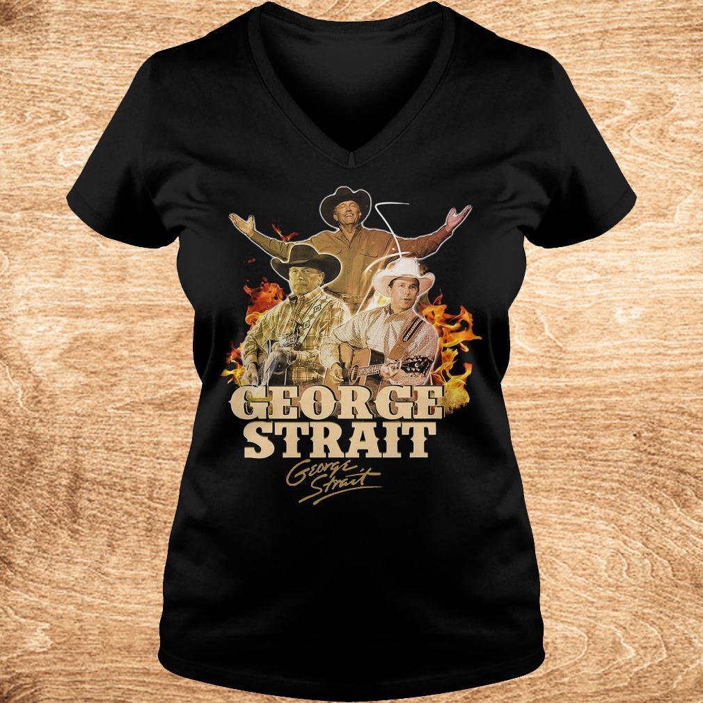 George Strait George Strait shirt shirt Ladies V Neck - George Strait George Strait shirt shirt