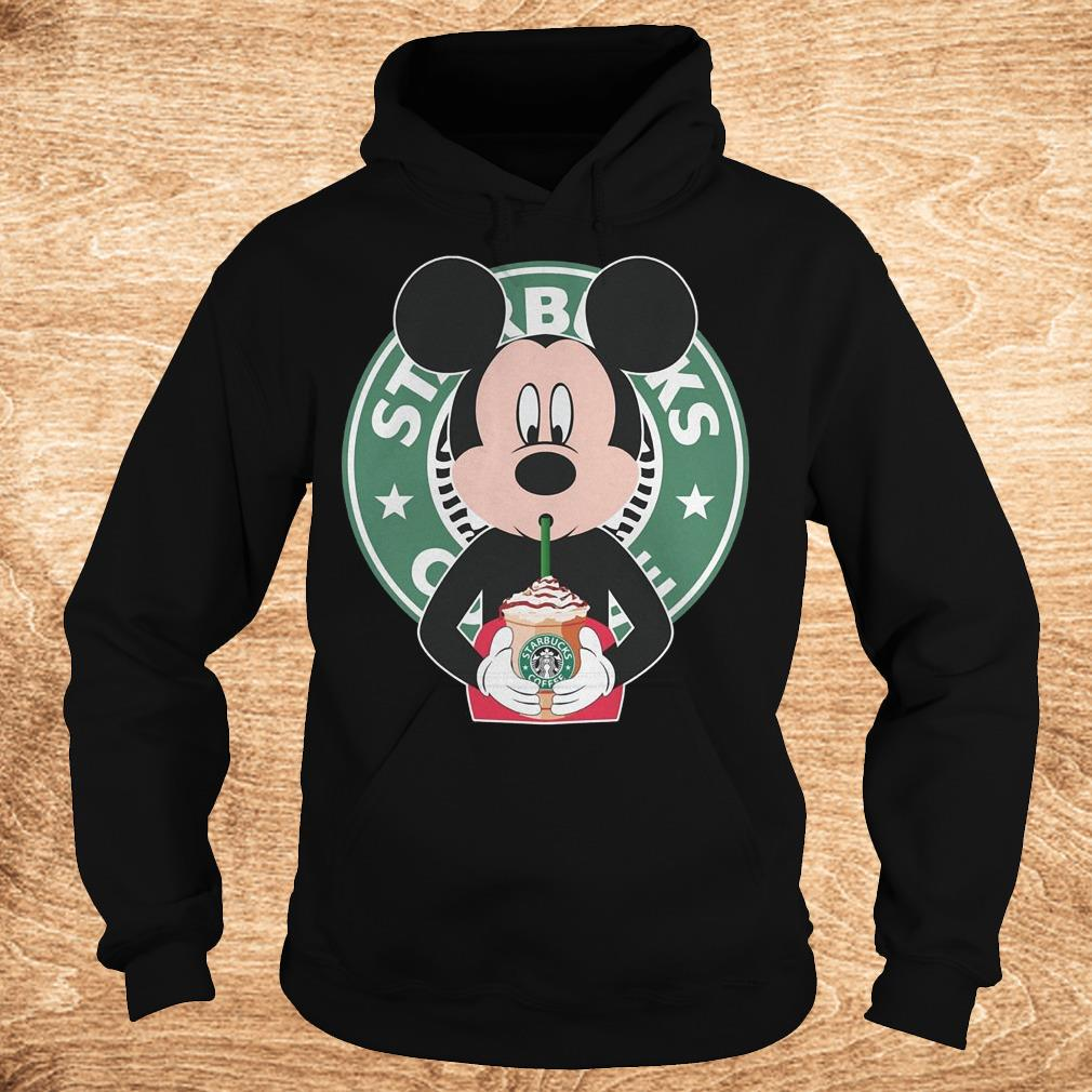 Mickey mouse drinks Starbucks coffee shirt Hoodie - Mickey mouse drinks Starbucks coffee shirt