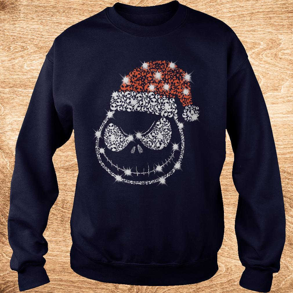 Official Christmas Rhinestone Jack Skellington with Santa hat shirt