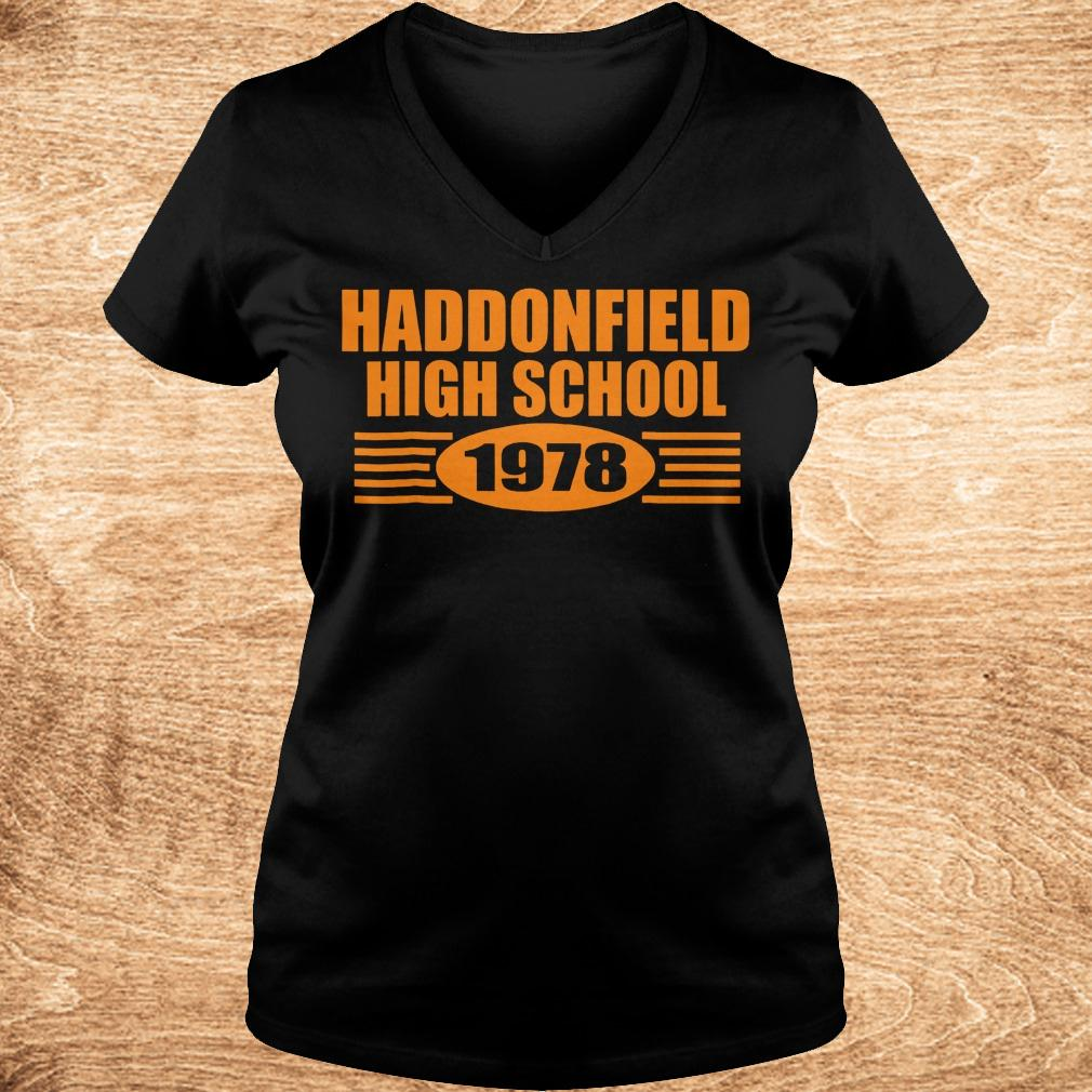 Official Haddonfield high school 1978 shirt Ladies V Neck - Official Haddonfield high school 1978 shirt