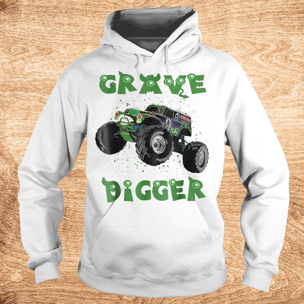Official Monster Truck Grave green Digger racing shirt Hoodie - Official Monster Truck Grave green Digger racing shirt