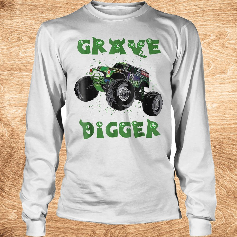 Official Monster Truck Grave green Digger racing shirt Longsleeve Tee Unisex - Official Monster Truck Grave green Digger racing shirt