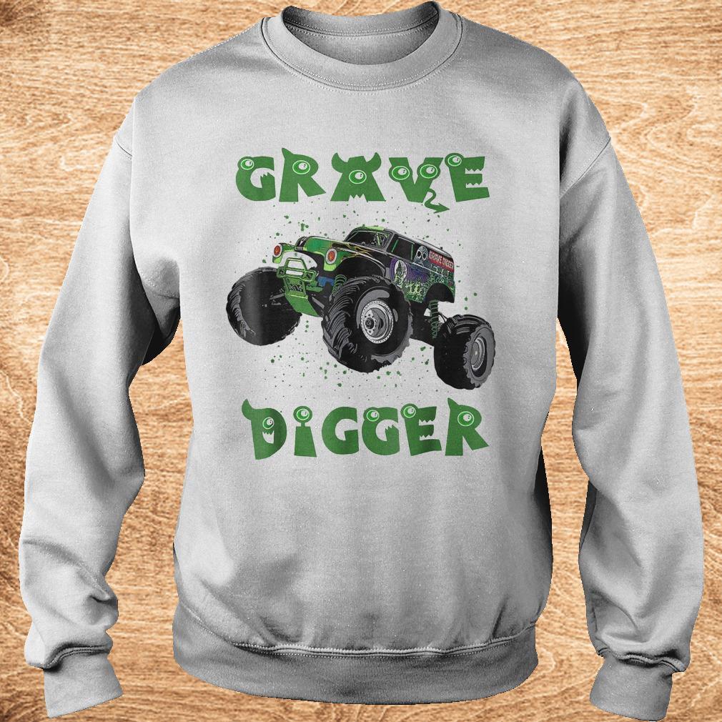 Official Monster Truck Grave green Digger racing shirt Sweatshirt Unisex - Official Monster Truck Grave green Digger racing shirt