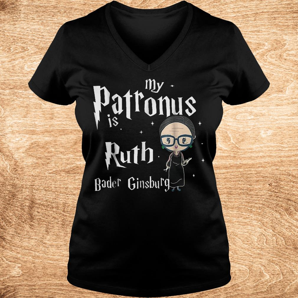 Official My patronus is Ruth bader Ginsburg shirt Ladies V-Neck
