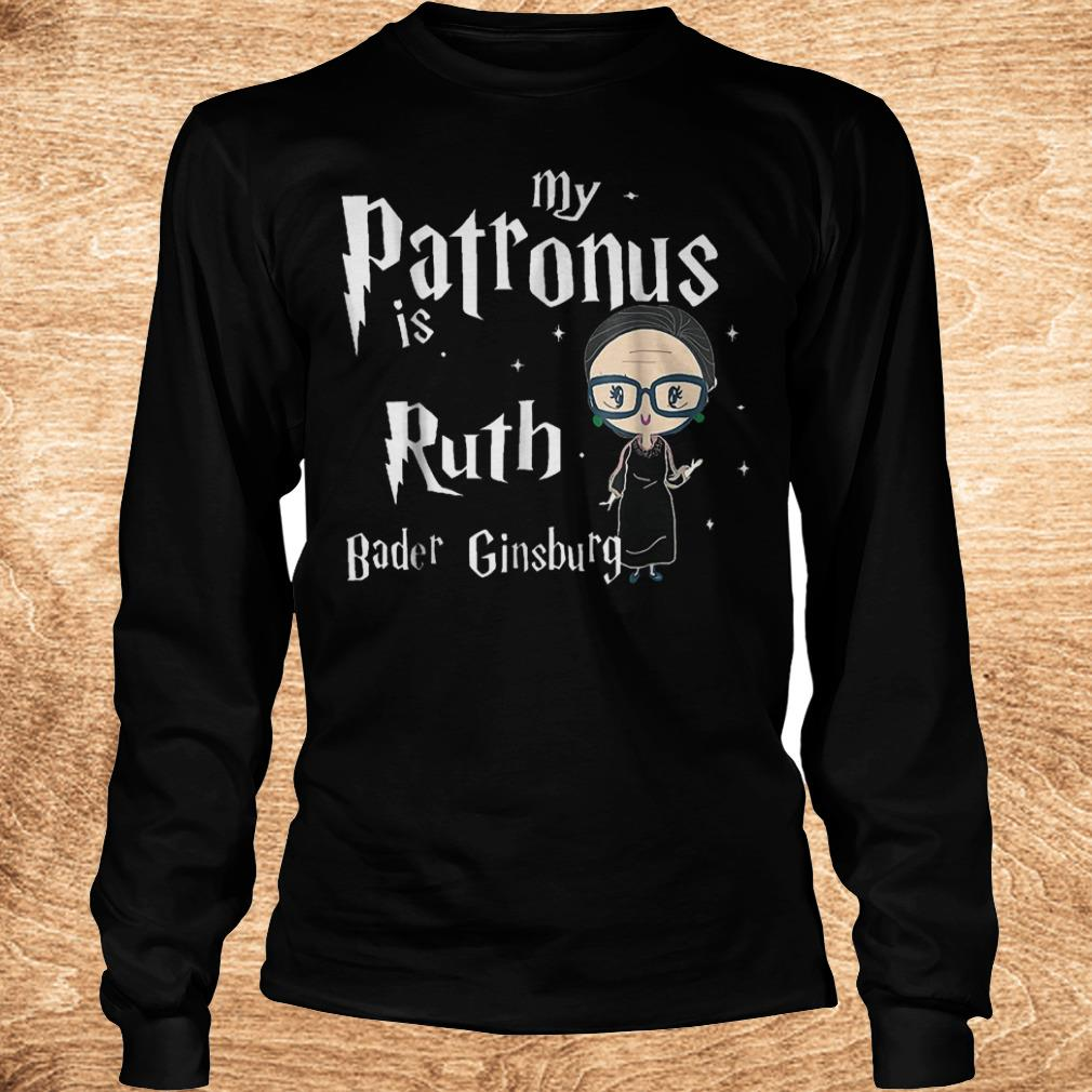 Official My patronus is Ruth bader Ginsburg shirt Longsleeve Tee Unisex
