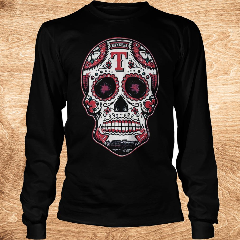 Premium Skull Texas Ranger Shirt Longsleeve Tee Unisex - Premium Skull Texas Ranger Shirt