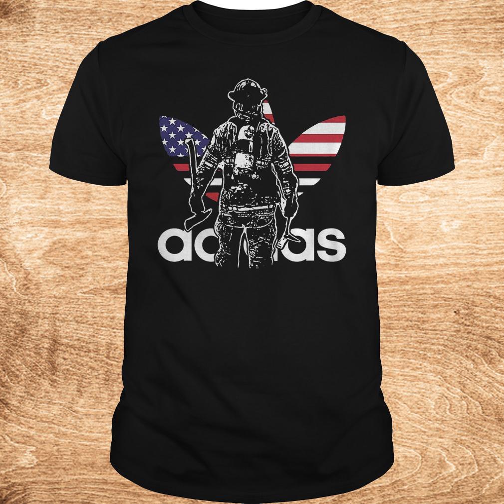Proud firefighter adidas shirt