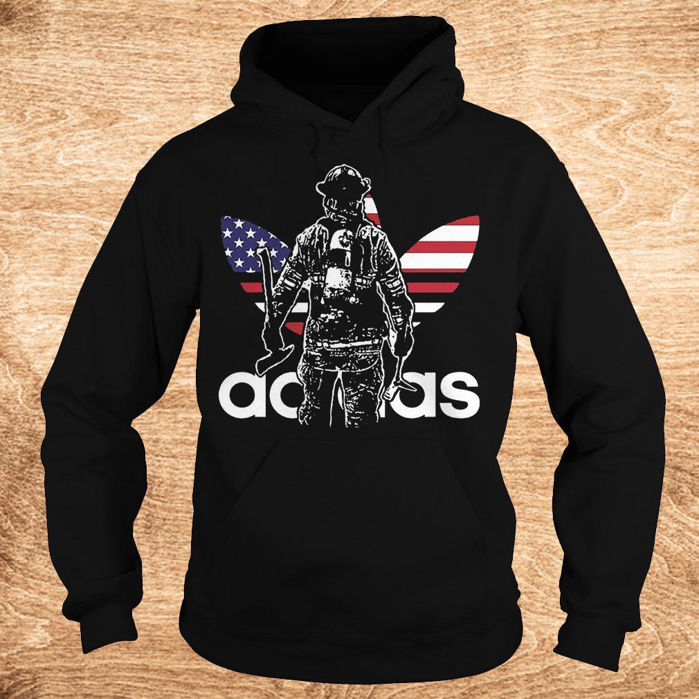 Proud firefighter adidas shirt Hoodie - Proud firefighter adidas shirt