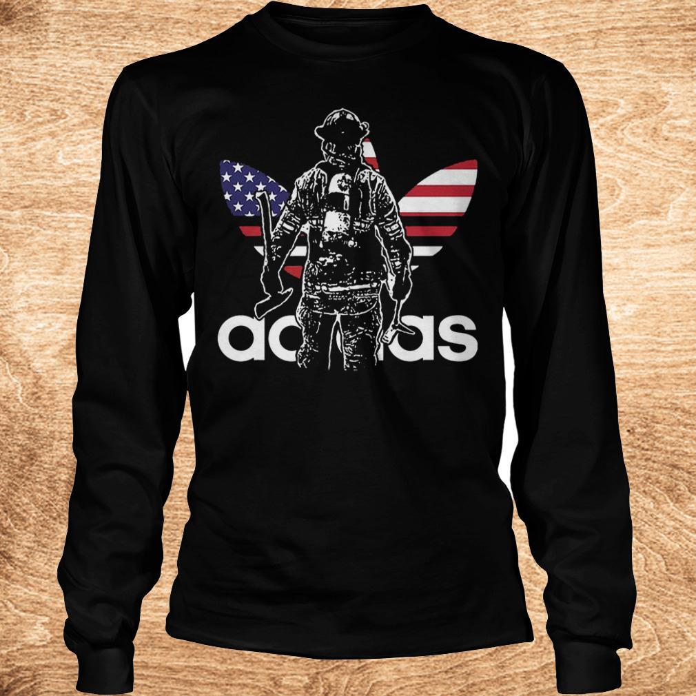 Proud firefighter adidas shirt Longsleeve Tee Unisex - Proud firefighter adidas shirt