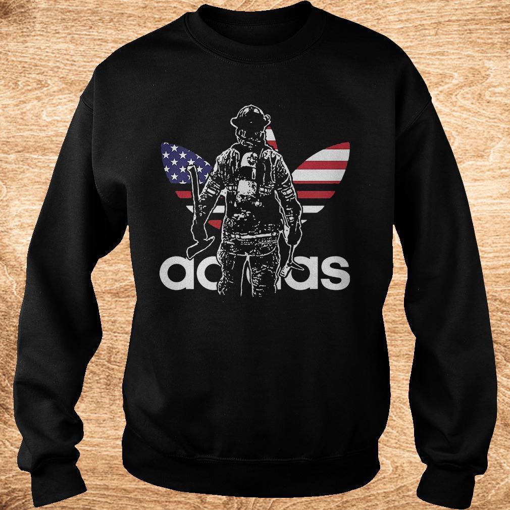 Proud firefighter adidas shirt Sweatshirt Unisex - Proud firefighter adidas shirt