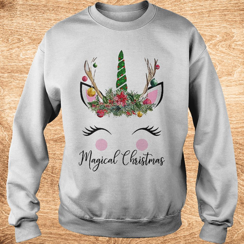 Unicorn magical Christmas Shirt Sweatshirt Unisex - Unicorn magical Christmas Shirt