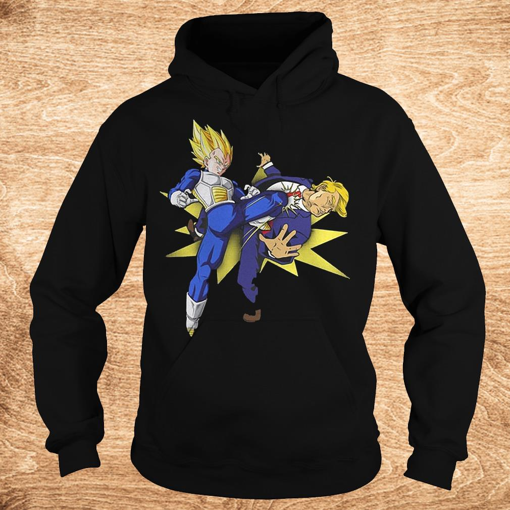 Vegeta hitting Donald Trump in the face Shirt Hoodie