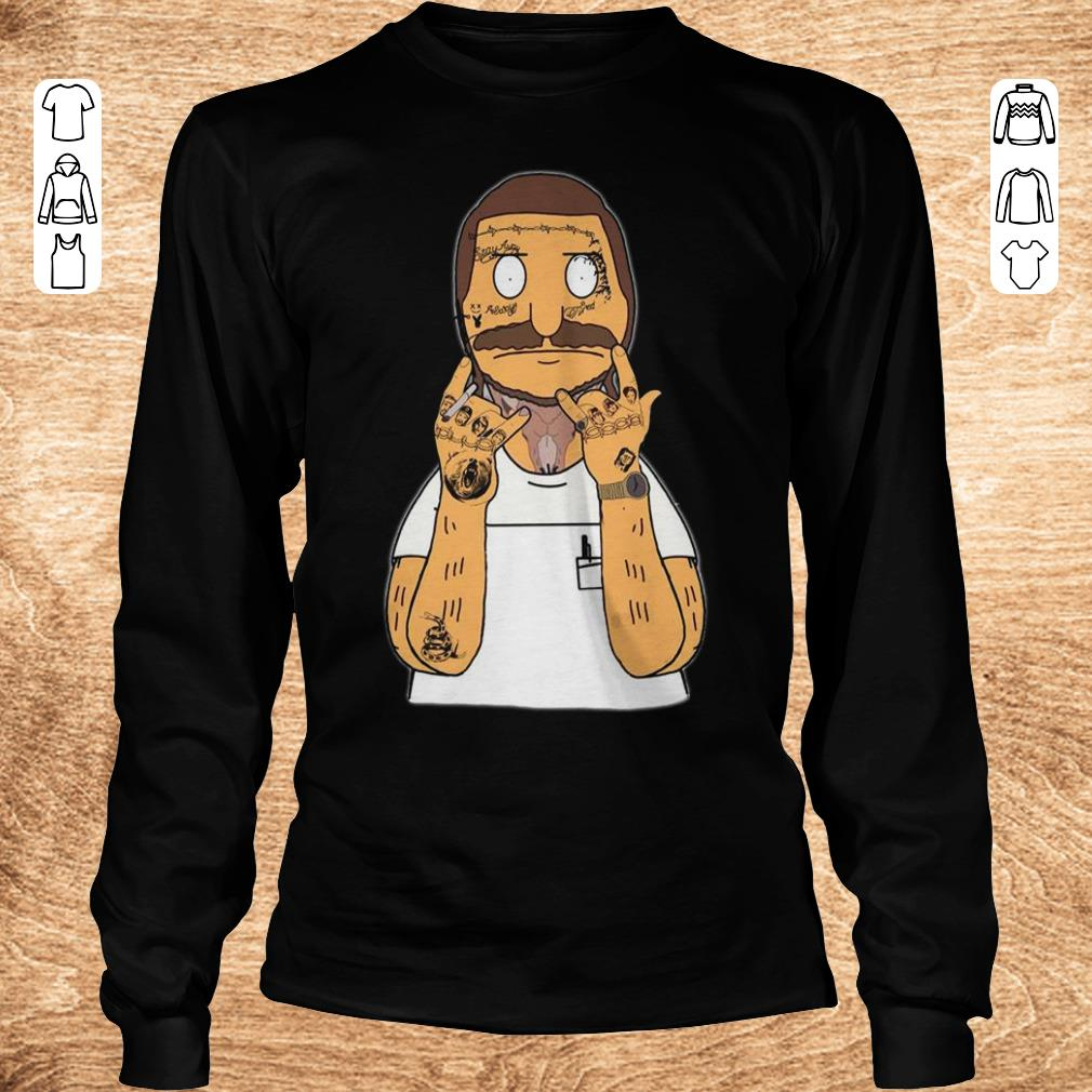 Awesome Bobs Burger with Post Malone bear snake Thanos shirt Longsleeve Tee Unisex - Awesome Bobs Burger with Post Malone bear snake Thanos shirt