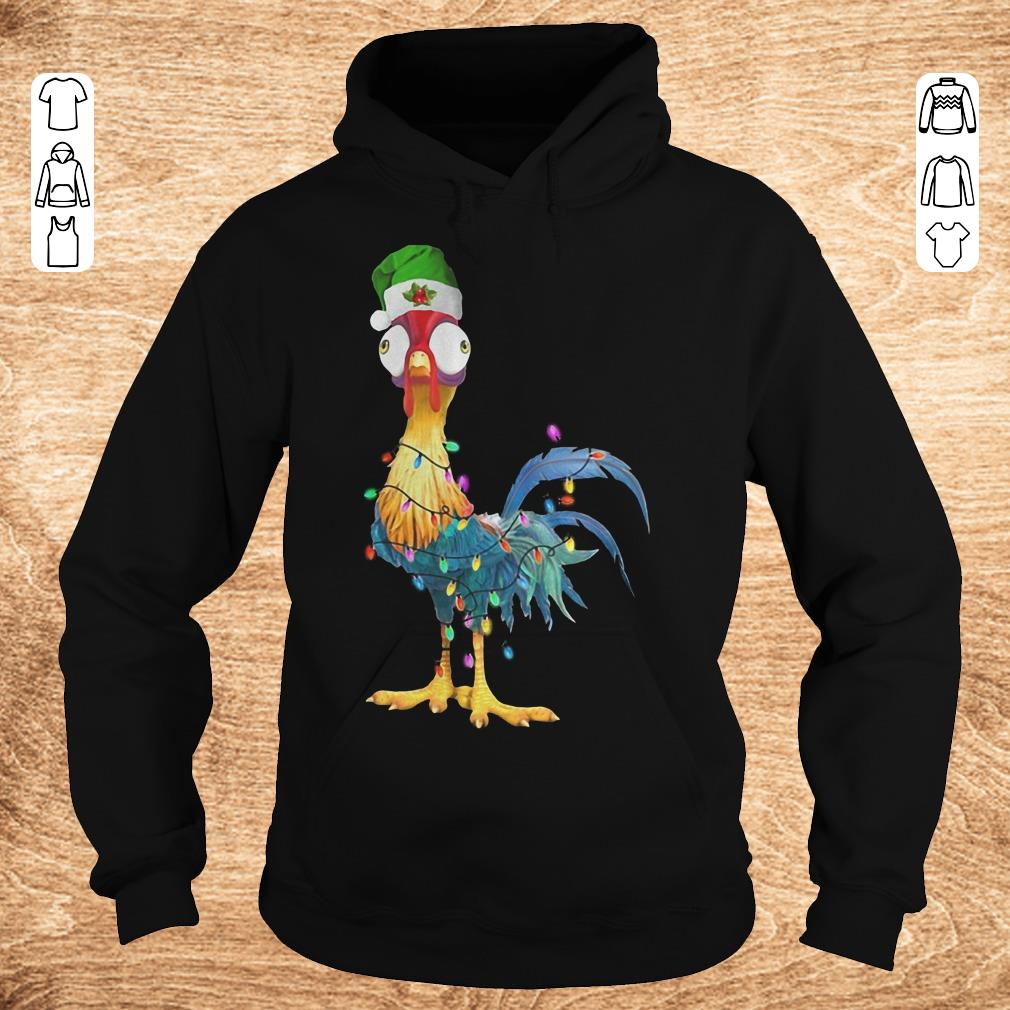 Awesome Chicken Hei Hei Christmas Light Shirt Longsleeve Hoodie.jpg