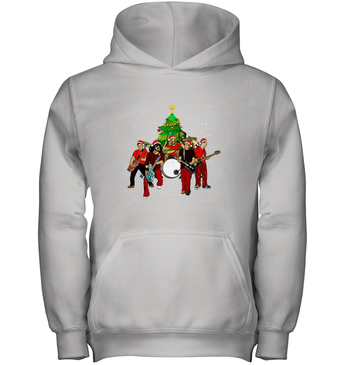 Foo Fighters Christmas Tree Hoodie - Awesome Foo Fighters Christmas Tree shirt