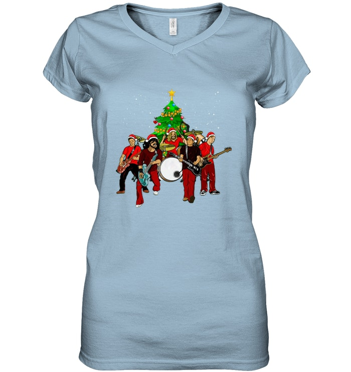 Foo Fighters Christmas Tree Ladies Tee - Awesome Foo Fighters Christmas Tree shirt