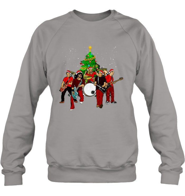 Foo Fighters Christmas Tree sweater - Awesome Foo Fighters Christmas Tree shirt