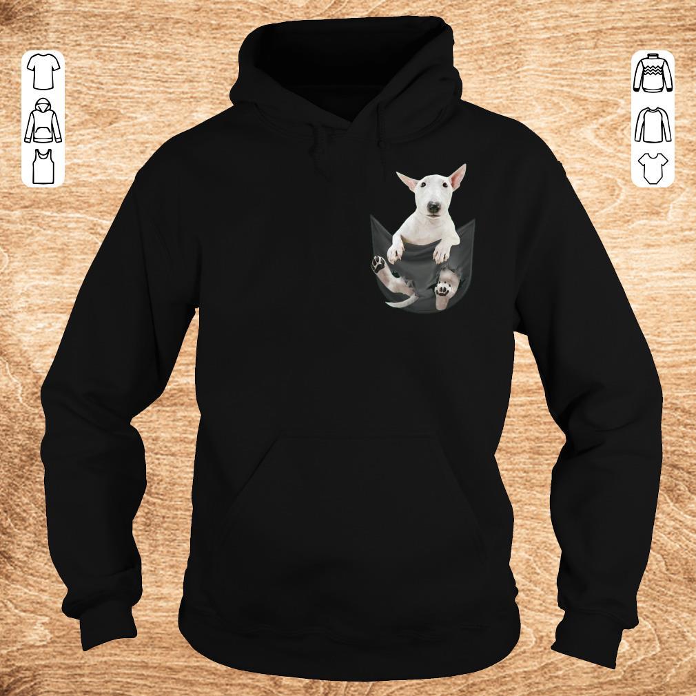 Funny Bull Terrier inside black Tiny Pocket shirt sweater Hoodie - Funny Bull Terrier inside black Tiny Pocket shirt sweater