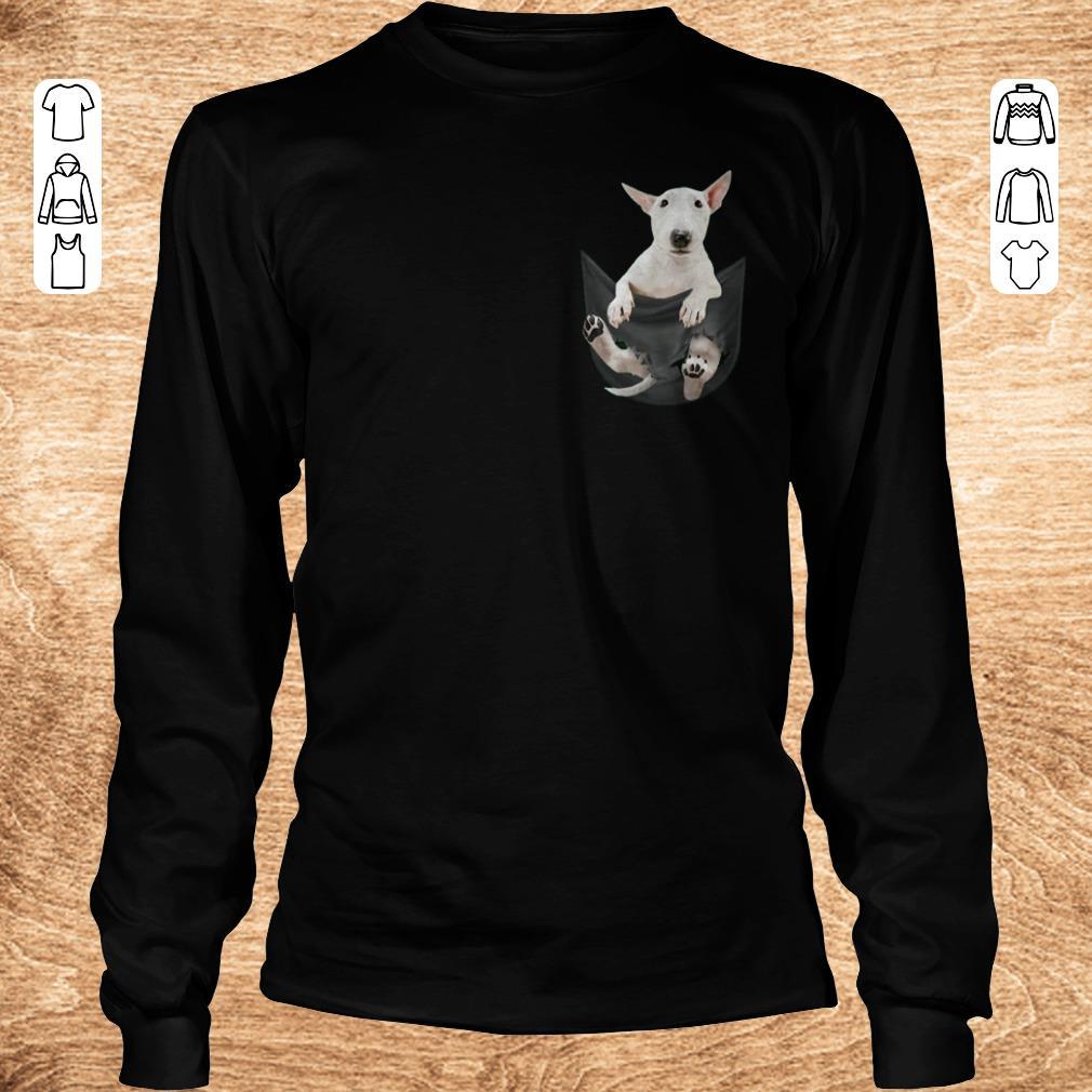 Funny Bull Terrier inside black Tiny Pocket shirt sweater Longsleeve Tee Unisex - Funny Bull Terrier inside black Tiny Pocket shirt sweater
