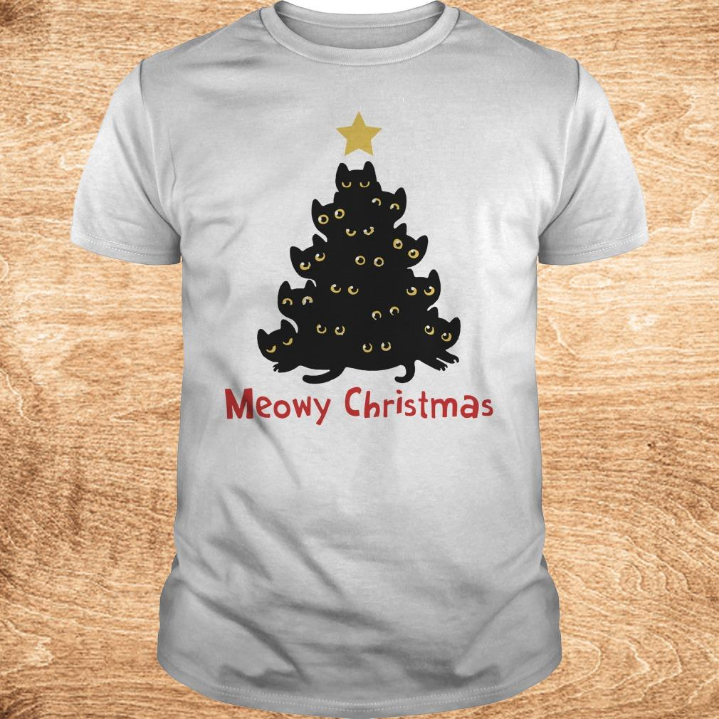 Funny Christmas Tree Cat Meowy sweatshirt Classic Guys Unisex Tee - Funny Christmas Tree Cat Meowy sweatshirt