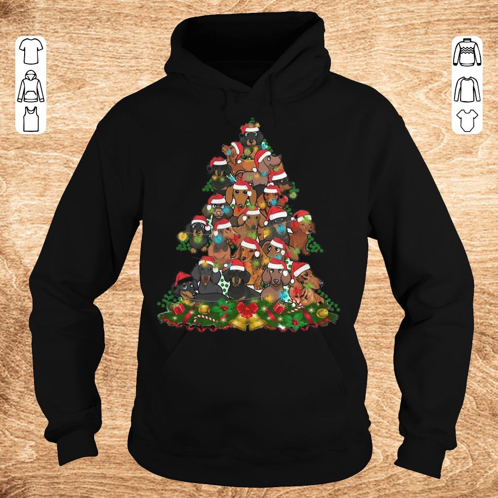 Funny Dachshunds Christmas Tree shirt sweater Hoodie - Funny Dachshunds Christmas Tree shirt sweater