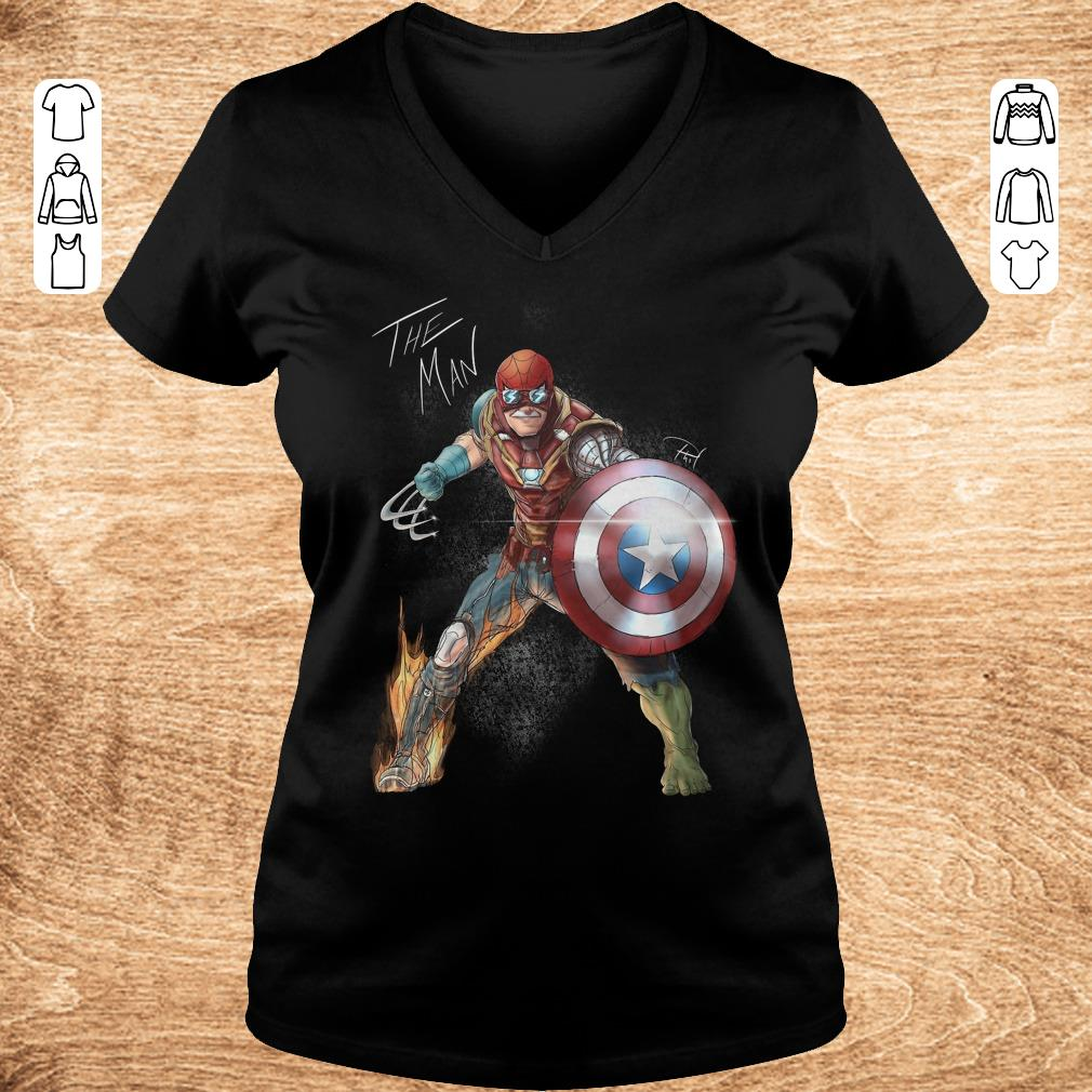 Funny Stan Lee One with his universe shirt Ladies V Neck - Funny Stan Lee One with his universe shirt