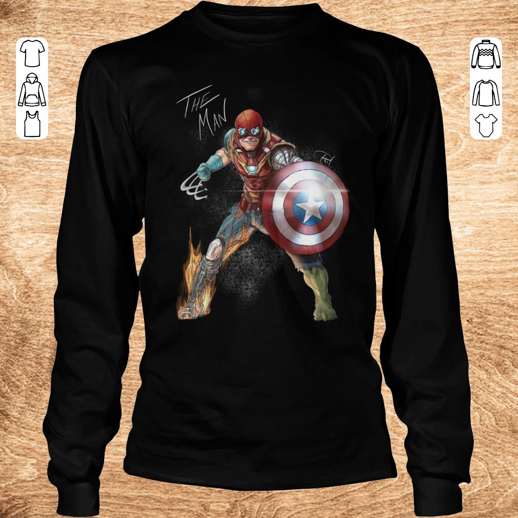 Funny Stan Lee One with his universe shirt Longsleeve Tee Unisex - Funny Stan Lee One with his universe shirt
