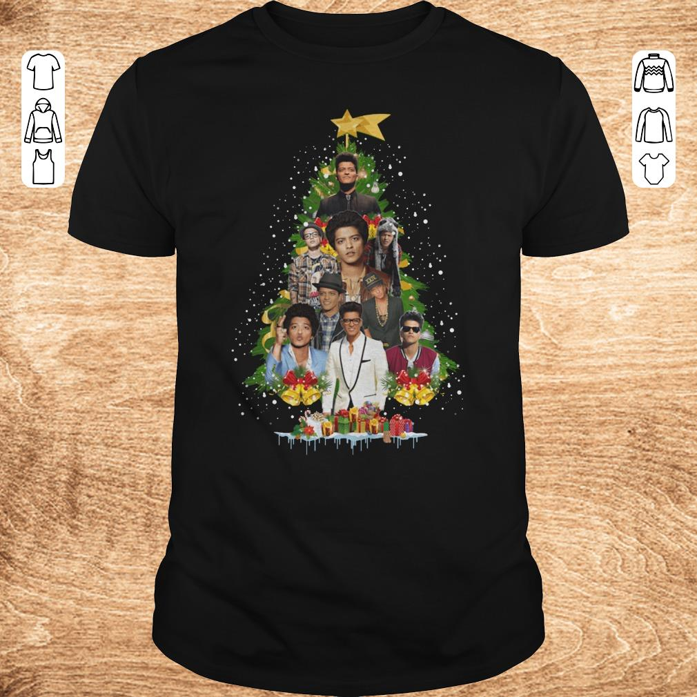Hot Bruno Mars Christmas tree shirt Classic Guys Unisex Tee - Hot Bruno Mars Christmas tree shirt