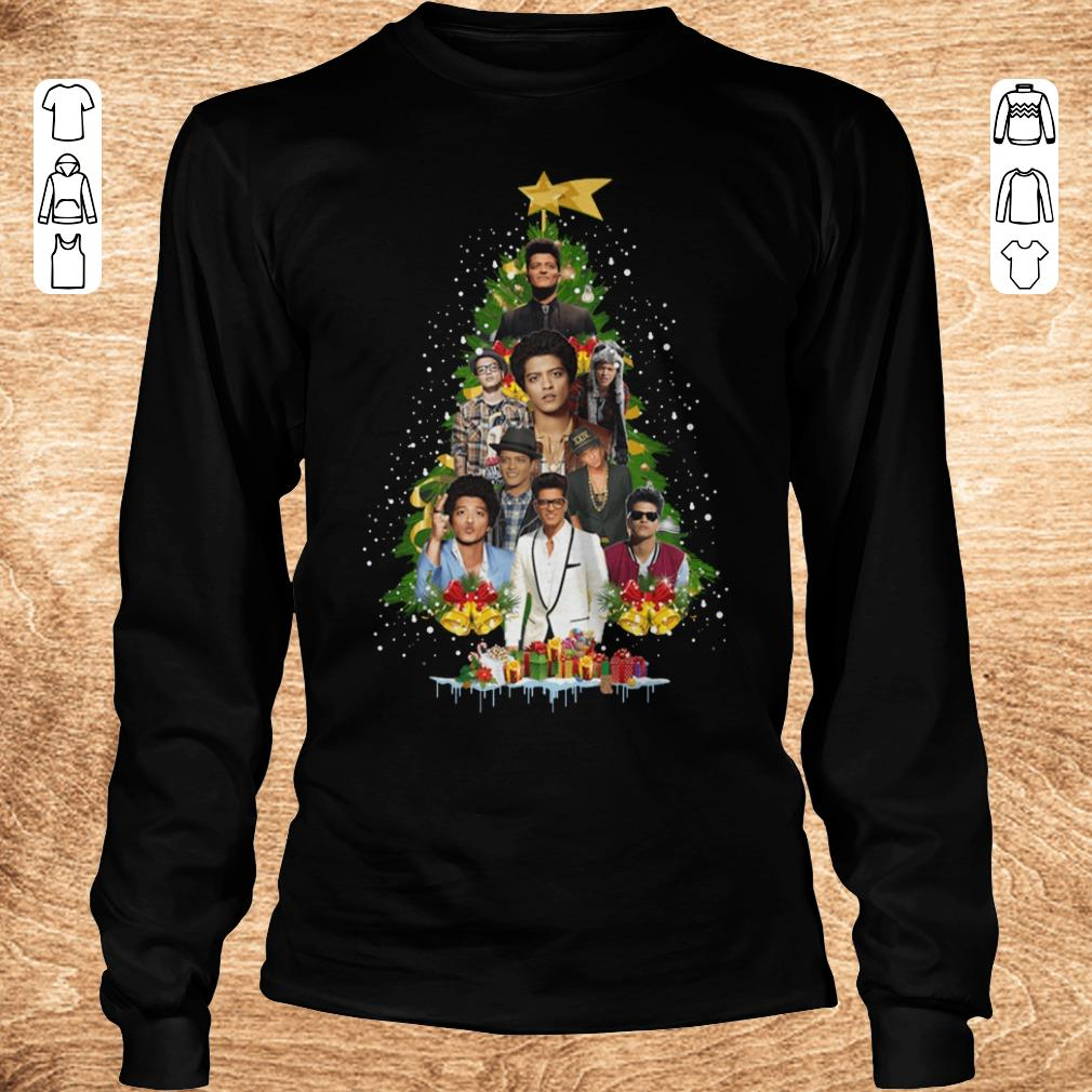 Hot Bruno Mars Christmas tree shirt Longsleeve Tee Unisex - Hot Bruno Mars Christmas tree shirt