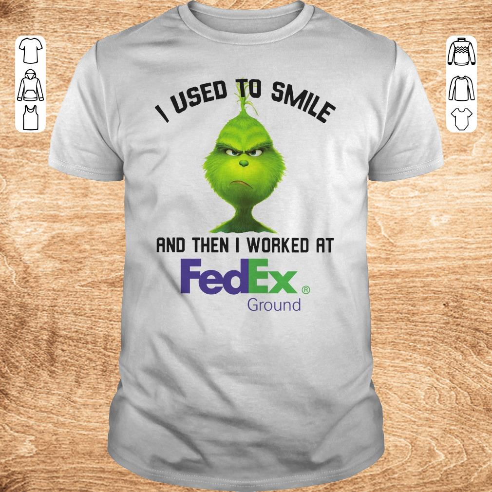 Hot Grinch I used to smile and then I worked at Fedex Ground shirt Classic Guys Unisex Tee - Hot Grinch I used to smile and then I worked at Fedex Ground shirt