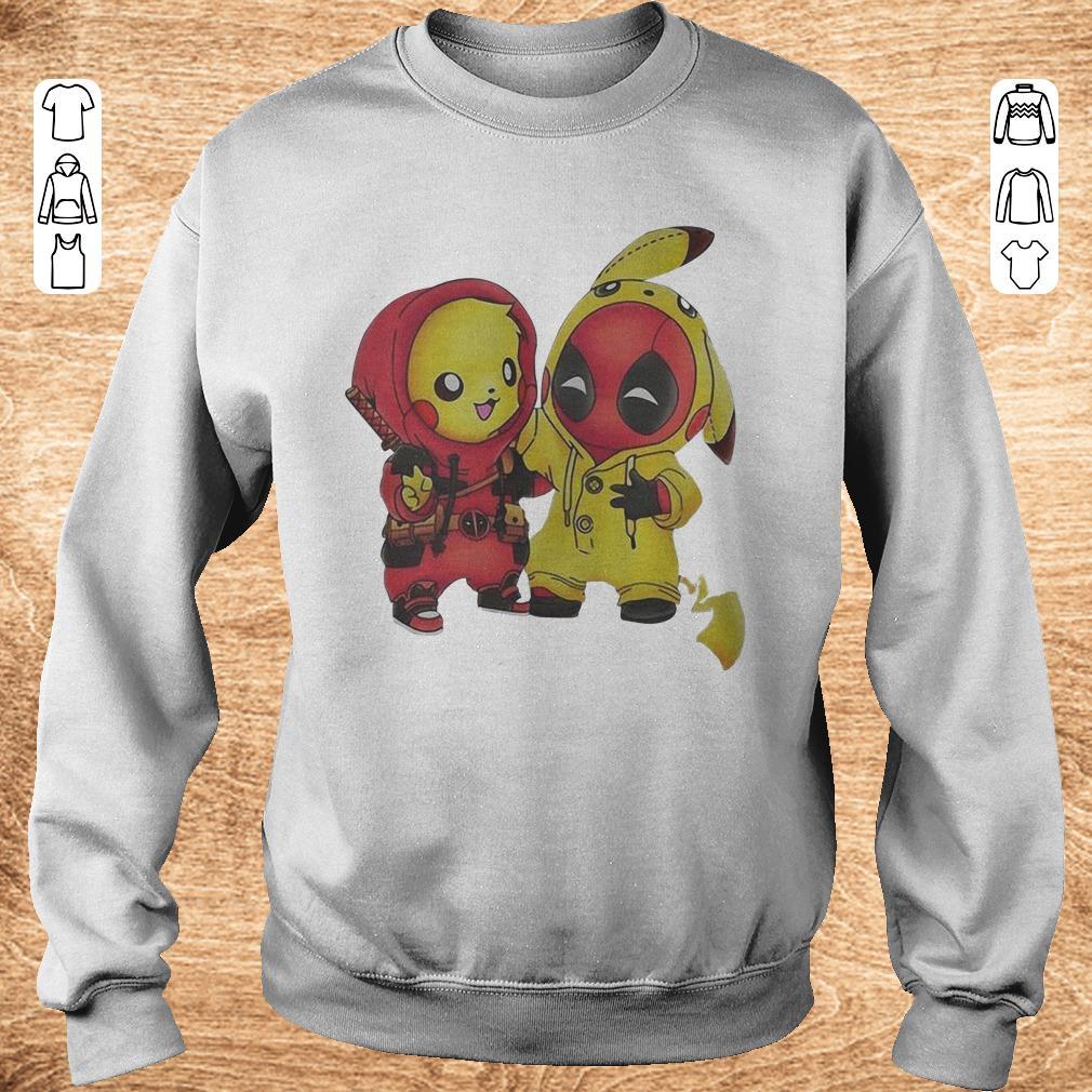 Hot Pokemon Pikachu And Deadpool Shirt Sweatshirt Unisex.jpg