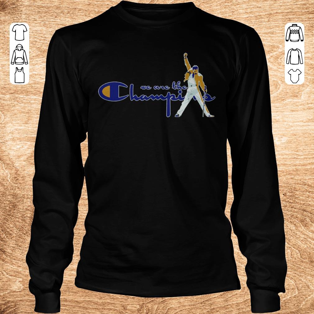 Hot We Are The Champions Freddie Mercury Shirt Longsleeve Tee Unisex.jpg
