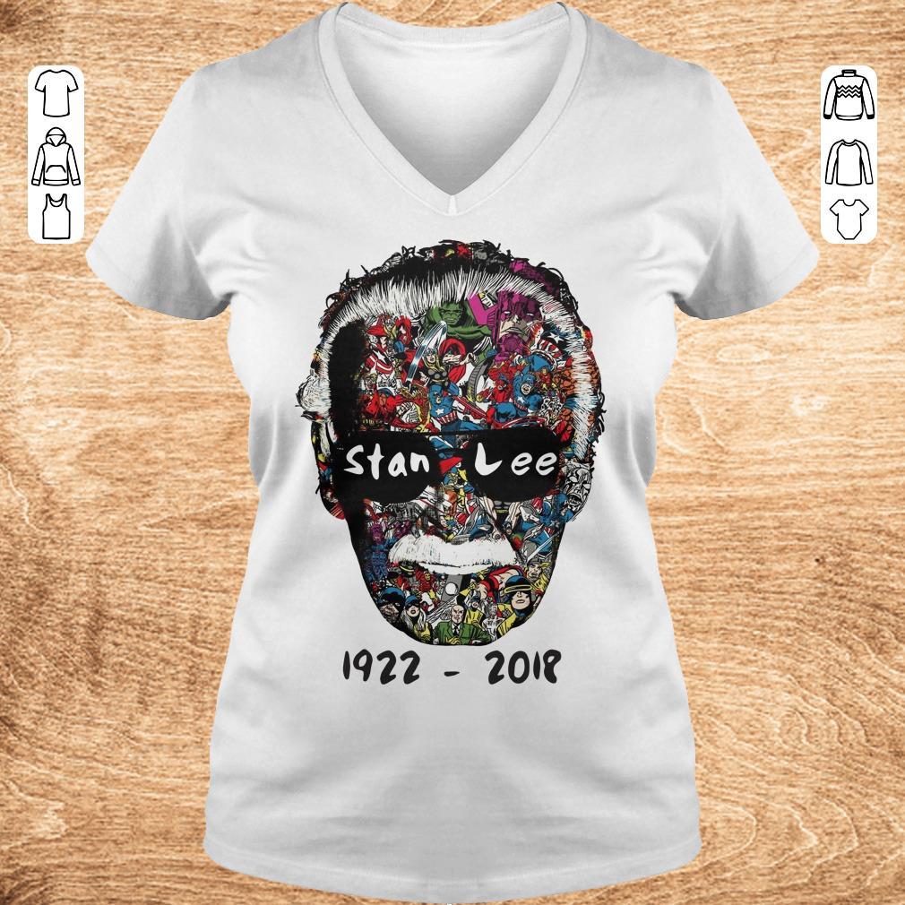 Nice Stan Lee 1922 2018 shirt sweater Ladies V Neck - Nice Stan Lee 1922 - 2018 shirt sweater