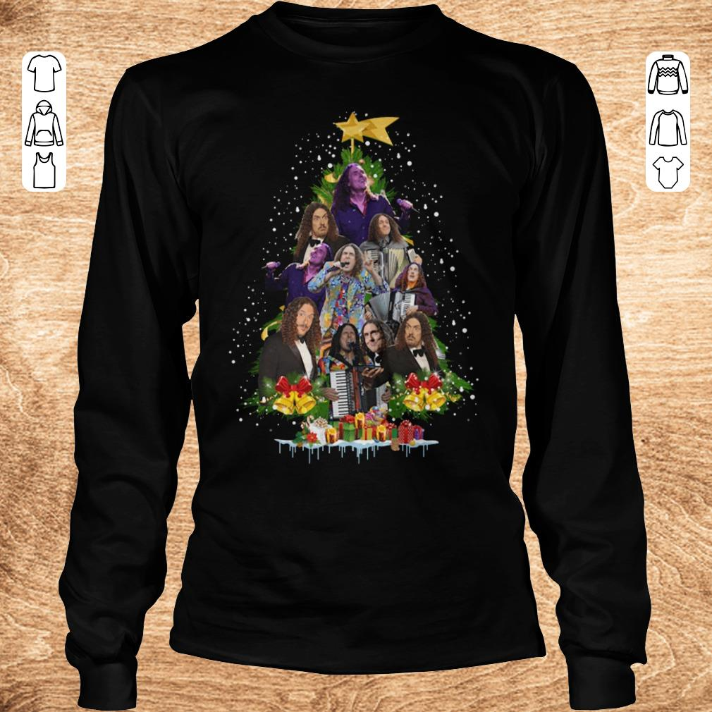Nice Weird Al Yankovic Christmas tree shirt Longsleeve Tee Unisex - Nice Weird Al Yankovic Christmas tree shirt