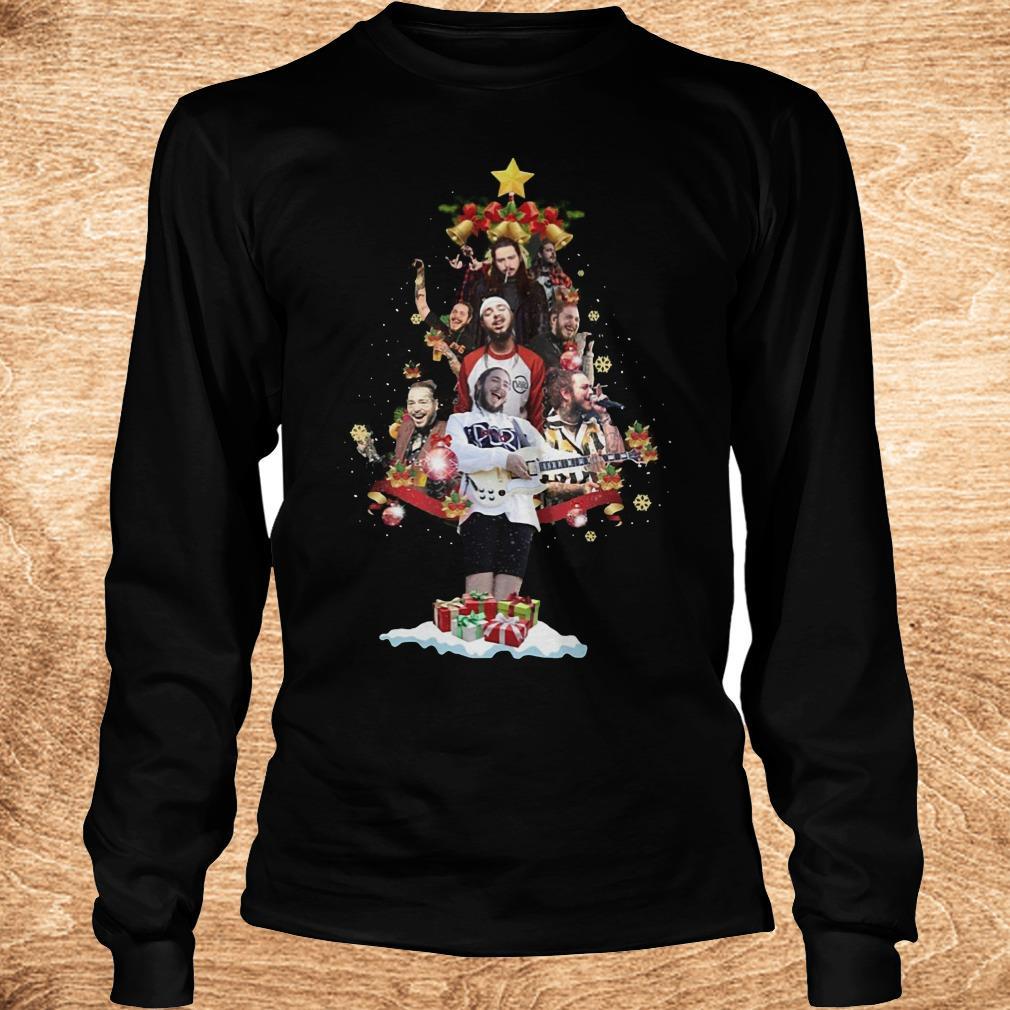 Official Malone Christmas tree sweatshirt Longsleeve Tee Unisex - Official Malone Christmas tree sweatshirt