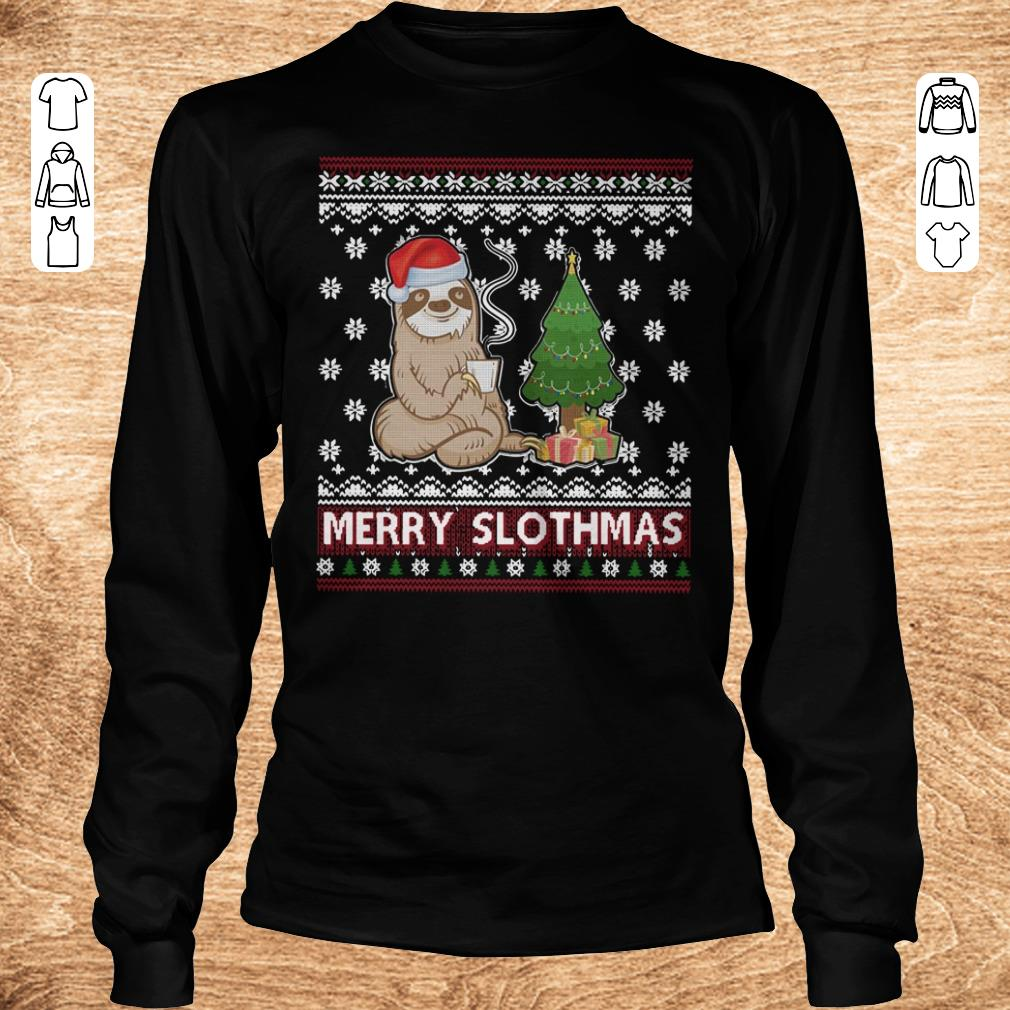Official Merry Slothmas sweater shirt longsleeve Longsleeve Tee Unisex - Official Merry Slothmas sweater shirt longsleeve