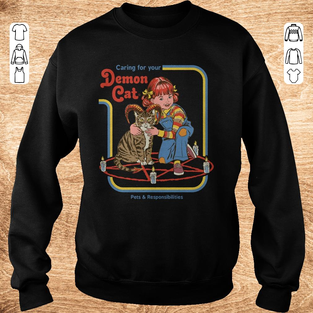 Official Pets Responsibilities Caring For Your Demon Cat Shirt Sweater Sweatshirt Unisex.jpg