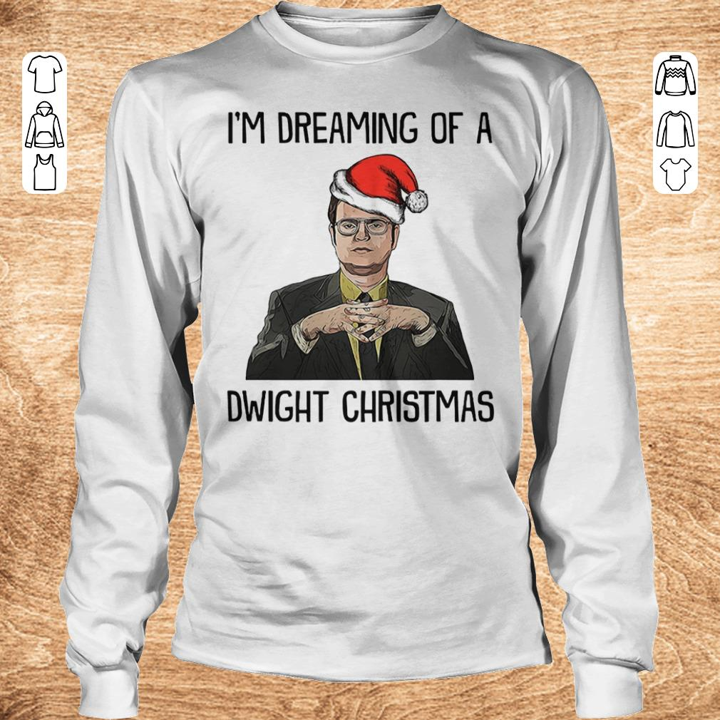 Official The Office I m dreaming of a dwight christmas shirt sweater Longsleeve Tee Unisex - Official The Office I'm dreaming of a dwight christmas shirt sweater