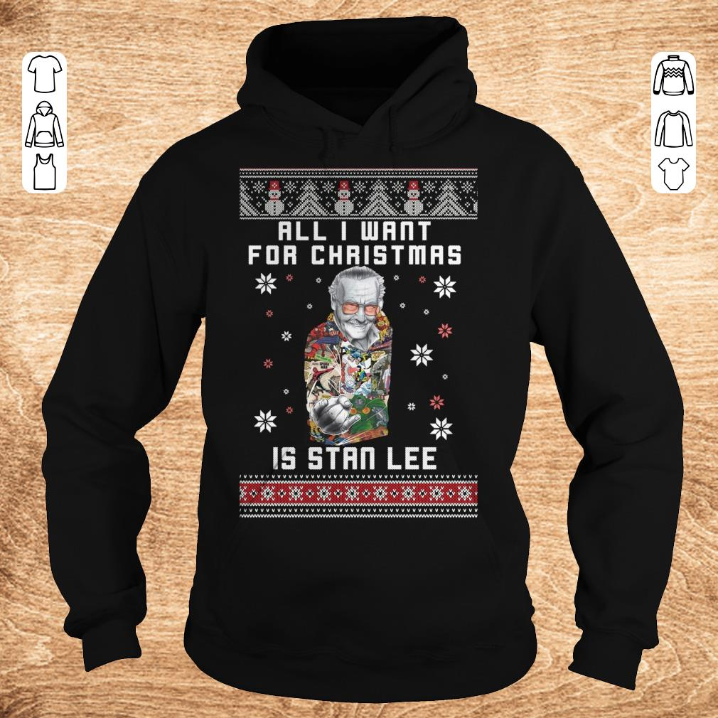 Original All I want for christmas is Stan Lee shirt sweater Hoodie - Original All I want for christmas is Stan Lee shirt sweater