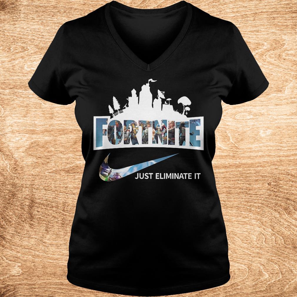 Original Fortnite just eliminate it shirt Ladies V Neck - Original Fortnite just eliminate it shirt