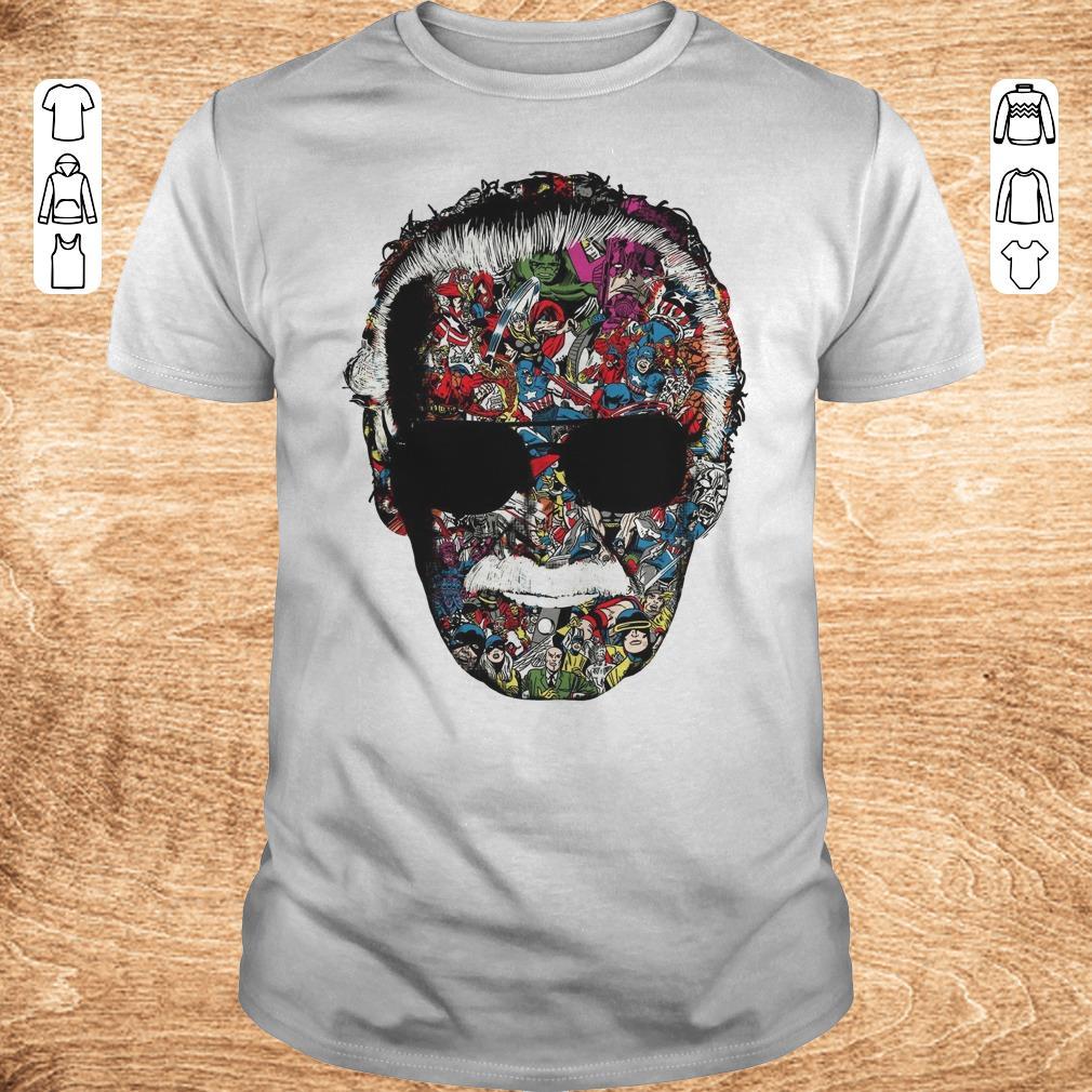 Original Man Of Many Faces Stan Lee shirt ladies v neck Classic Guys Unisex Tee - Original Man Of Many Faces Stan Lee shirt ladies v neck
