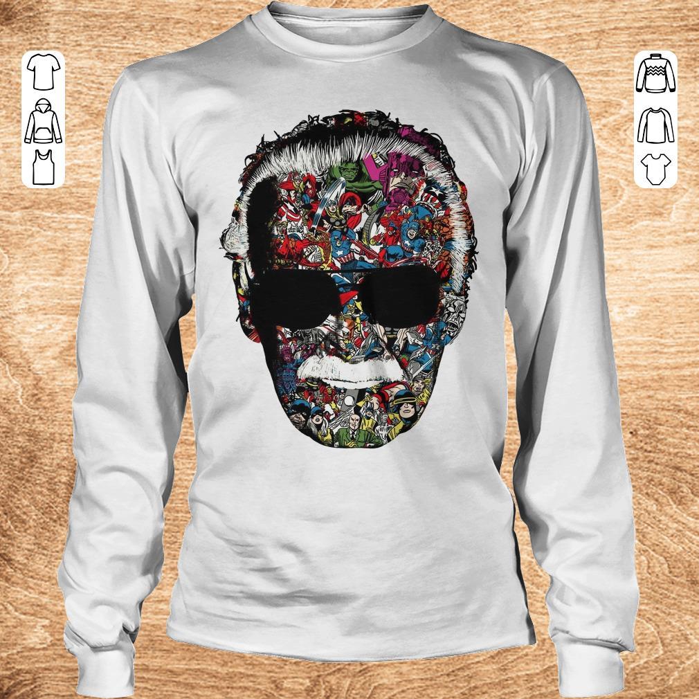 Original Man Of Many Faces Stan Lee shirt ladies v neck Longsleeve Tee Unisex - Original Man Of Many Faces Stan Lee shirt ladies v neck