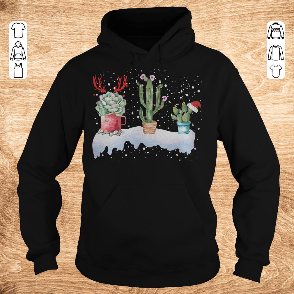Premium Cactus Christmas shirt Hoodie - Premium Cactus Christmas shirt
