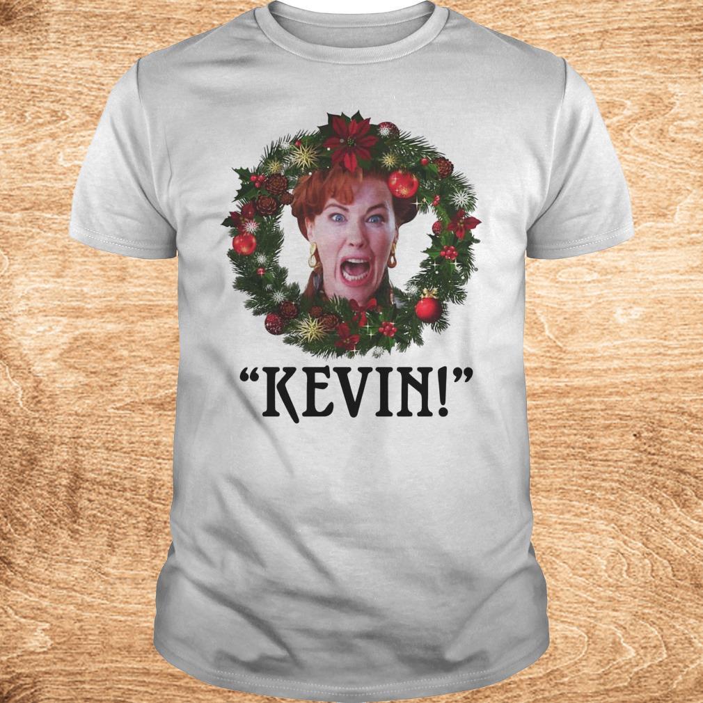 Premium Christmas wreath Home alone Kevin scream shirt Classic Guys Unisex Tee - Premium Christmas wreath Home alone Kevin scream shirt