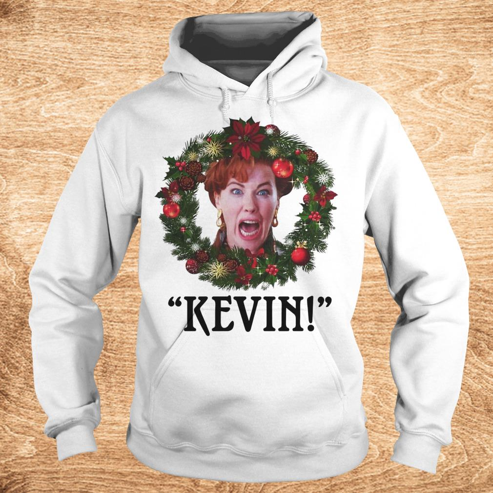 Premium Christmas wreath Home alone Kevin scream shirt Hoodie - Premium Christmas wreath Home alone Kevin scream shirt