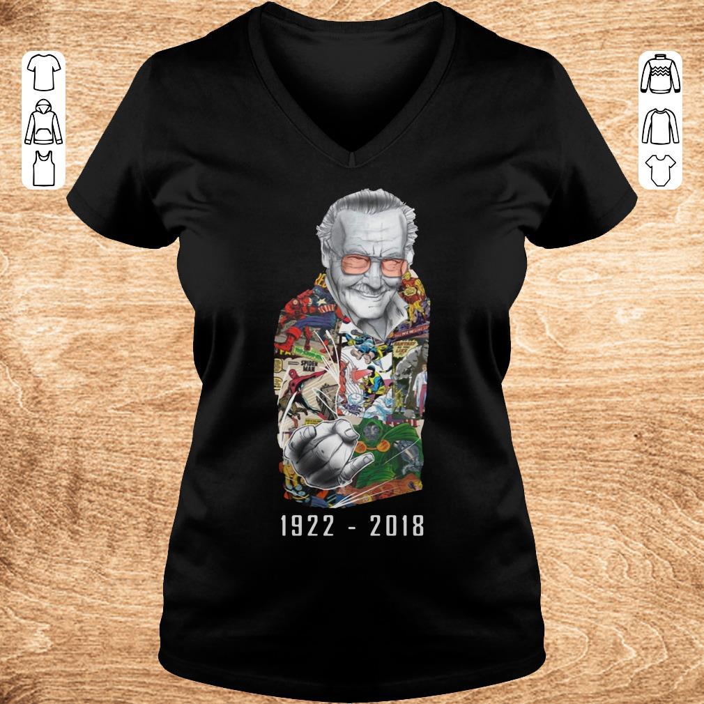 Premium RIP Stan Lee 1922 2018 shirt ladies t shirt Ladies V Neck - Premium RIP Stan Lee 1922-2018 shirt ladies t shirt