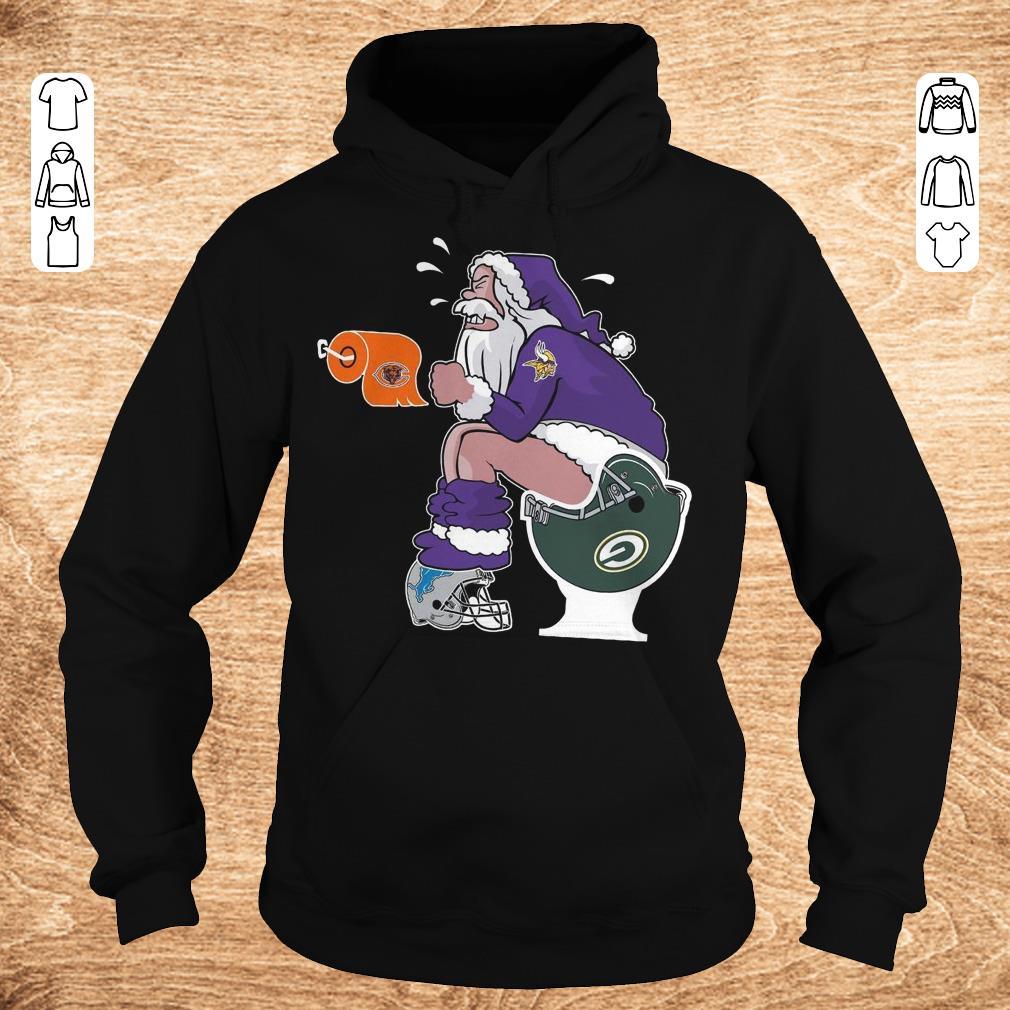 Premium Santa Minnesota Vikings Green Bay Packers Toilet shirt Hoodie - Premium Santa Minnesota Vikings Green Bay Packers Toilet shirt