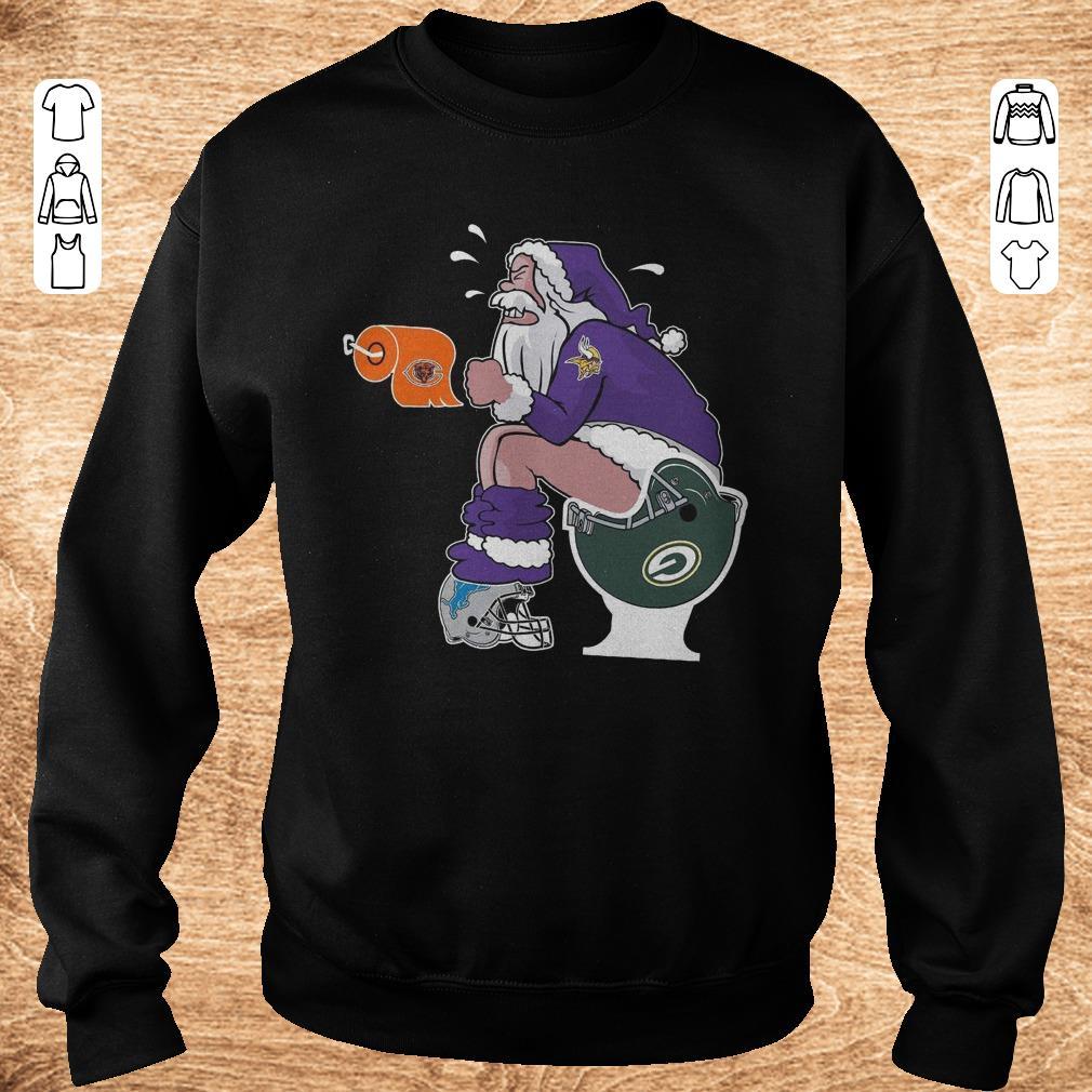 Premium Santa Minnesota Vikings Green Bay Packers Toilet Shirt Sweatshirt Unisex.jpg